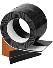 """YOUSHARES Draft Excluder for Door & Window, Flexible Draught Excluder Self Adhesive Seal Weather Strip Soundproof Rubber Draft Stopper for Anti-Bug, Windproof, Waterproof, 39.37"""" L x 1.38"""" W(Black)"""
