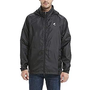 Common District Men's Waterproof Lightweight Rain Jacket Active Outdoor Hooded Raincoat S-5XL