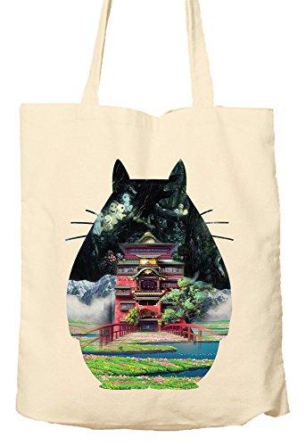 totoroa Ghibli Szenen–Tasche, natur Einkaufstasche, umweltfreundlich