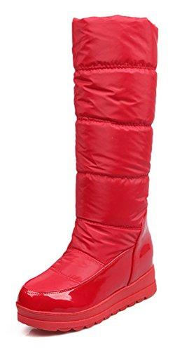 Chaud Chaussures De Slip On Aisun Femme Rouge Hiver Bottes UFqzS5w