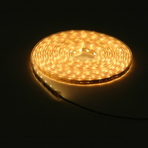 16.4 Feet 300 SMD LED Flexible Strip with Waterproof Sleeve, 12 Volt Warm White LED Ribbon By Ledwholesalers, 2047ww-31k