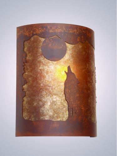 - Steel Partners Lighting Timber Ridge Sconce, Barking at The Moon