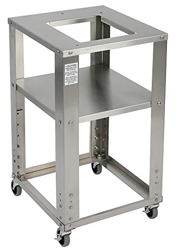 "Detecto CART2824 Rolling Steel Cart, Stainless Steel, 28"" D"