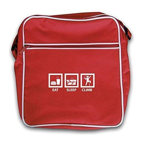 Climb Sleep Eat Dressdown Climbing Red Flight rock Retro Bag EqTww7
