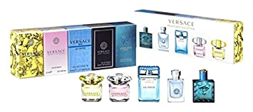Versace Mini de perfume Juego 5 x 5 ml (1 x Man Eau Fraiche, 1 x Signature, 1 x Bright Crystal, 1 x Yellow Diamonds y 1 x Eros): Amazon.es: Belleza