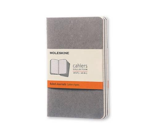 Moleskine Cahier Journal (Set of 3), Pebble Grey, Soft Cover