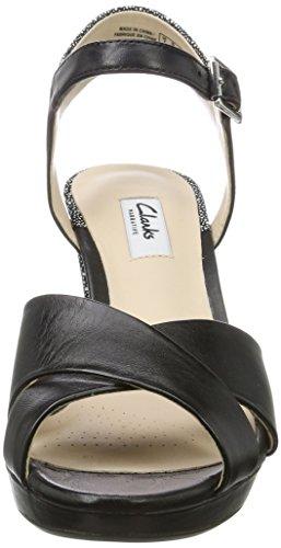 Clarks Kendra Petal, Zapatos de Tacón para Mujer Negro (Blk Interest Lea)