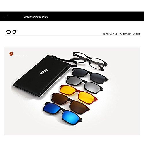 et élégantes de lunettes cadre conduite unisexes avec interchangeables extérieure 5 pour pêche polarisées lentilles de de soleil soleil la la TR90 de Lunettes RtxwASdqR