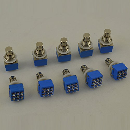 10PCS/LOT 3PDT 9 Pins Box Stomp Guitar Effect Pedal Foot Switch True Bypass by LANDTONE
