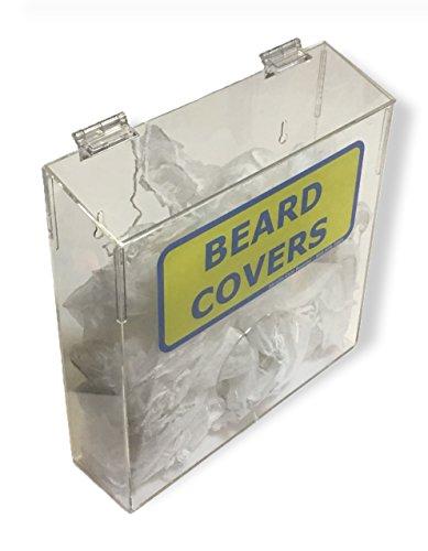 - Wall Mountable Beard Covers Clear Acrylic Dispensor