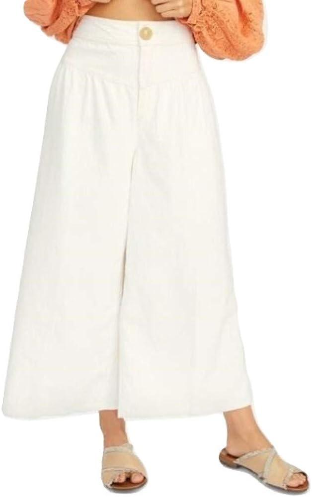 Free People Women's La Wide-Leg Rapid rise Pants Jeans Albuquerque Mall Bomba