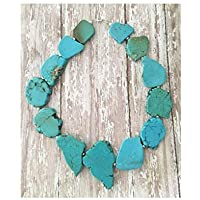 Chunky Turquoise Statement Necklace with Silver Accents