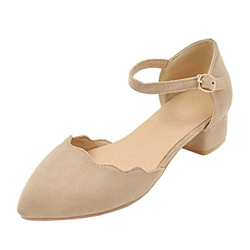 TAOFFEN Women Spring Summer Shoes Closed Toe Apricot