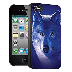 QYF Wolf Pattern 3D Effect Case for iPhone4/4S