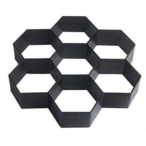 Bettli DIY Patio Walk Maker Stepping Stone Concrete Paver Mold Reusable Path Maker Mold Garden Paving Stone Molds 11.4x11.4 Inch (Hexagon)