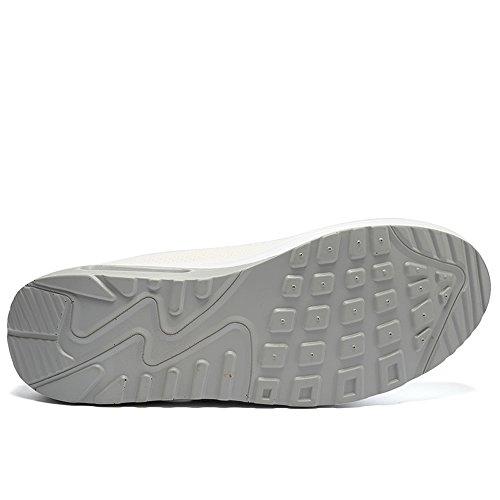 Enllerviid Kvinnor Atletisk Slip På Plattform Fitness Toning Sneakers Forma Upp Promenadskor Vita