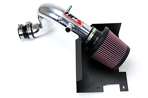 HPS Polish Shortram Air Intake + Heat Shield Short Ram for 11-14 Hyundai Sonata 2.0L Turbo ()