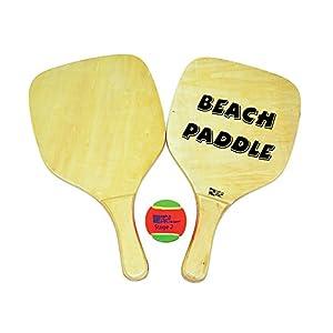 Beach Art 2014, Set Racchette con Pallina Unisex – Adulto, Legno, 40x22x1 cm 1 spesavip