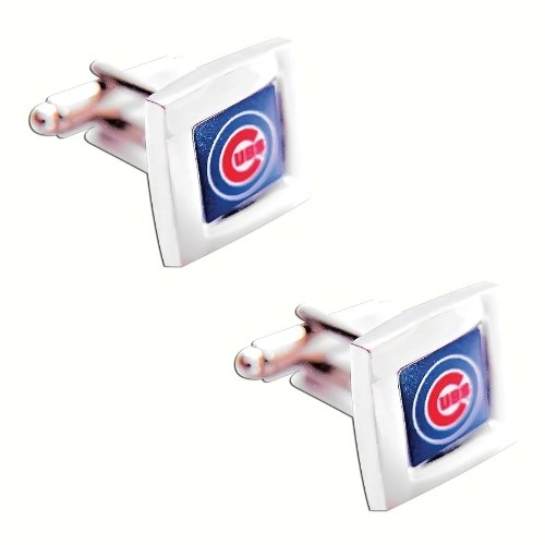 MLB Chicago Cubs Square Cuff Links