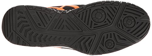 Asics Mens Gel-resolution 7 Scarpa Da Tennis Nera / Shocking Orange / White