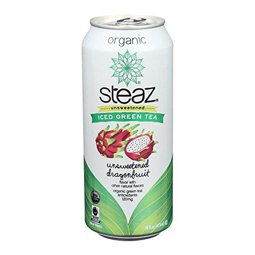 Steaz Zero Calorie Green Tea, Dragon Fruit - (Case of 12-16 fl oz) by Steaz