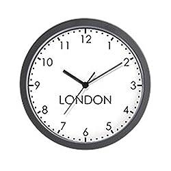 CafePress London Modern Newsroom Unique Decorative 10 Wall Clock