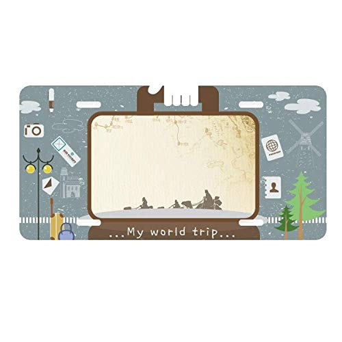 - DIYthinker Camel Chinese Painting Silk Road map License Plate Car Decoration Tin Sign Travel