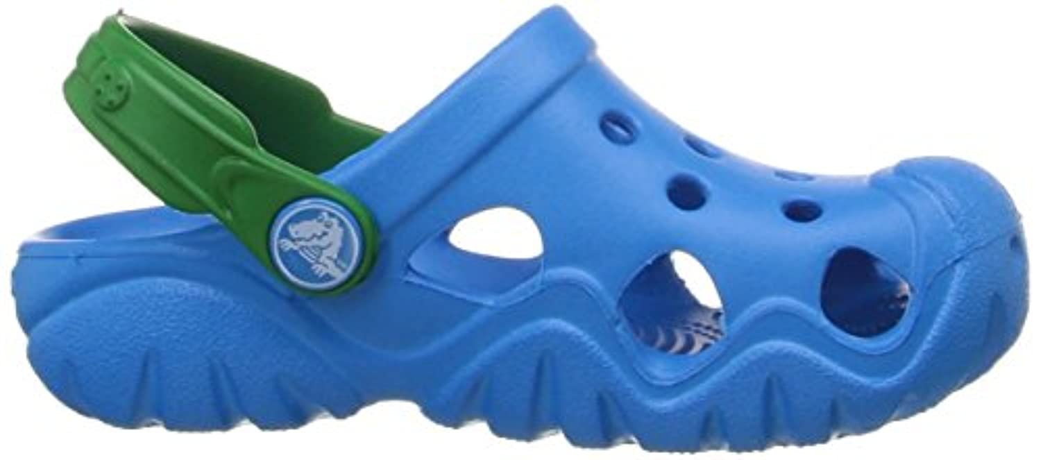 Crocs Unisex Kids' Swiftwaterclgk Clogs, Blue (Ocean/Kelly Green), 34-35