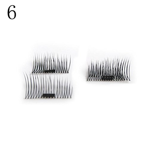 Vovotrade NEW Ultra-thin 0.4mm Magnetic Eye Lashes 3D Mink Reusable False Magnet Eyelashes (F)