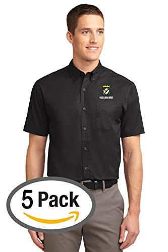 Embroidered Short Sleeve Work Shirt - 1