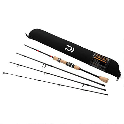 "Daiwa PSO664ULFS-TR Presso Ultralight Pack Spinning Rod, 6'6"" Length, 4Piece Rod, Ultralight Power, Fast Action"