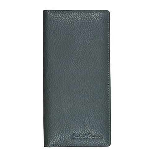 Window and Slots Men's And Cream Leather ID Gray 3852 1 Zipper 2 Lombardi Giovanni Long Wallet 12 Tones aYw85Yq
