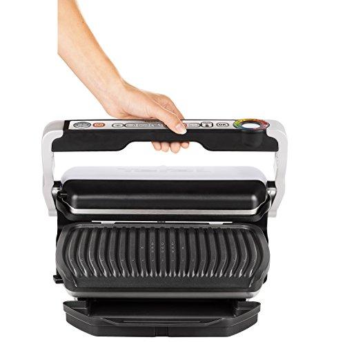T fal gc712d54 optigrill grill with automatic sensor - T fal optigrill indoor electric grill ...