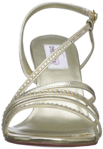 Dyeables Womens Jo Door De Mens Veroorzaakte Platform Sandaal Goud Metallic