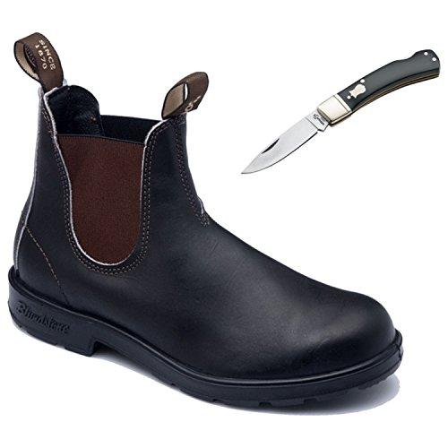 Blundstone Mens Work/Safety Steel Toe Boot 990 Blk With Free Pocket Knife Q90pBU4F3C