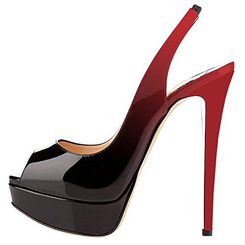 Della Sexy Slittamento Piattaforma Su Rosso A Da Toe Rosso t Basso nero Donne Tacchi Chris Peep P Spillo Alti Abito Pompe S0le in Scarpe Sposa Bqtz8ExIwI