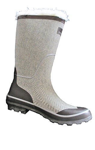 Gray Waterproof Boots With Inserts for down to -20 degrees, Sz 10