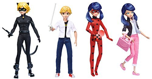 Miraculous: Tales of Ladybug & Cat Noir 10.5-Inch Series 1 Fashion Dolls (Set of 4)