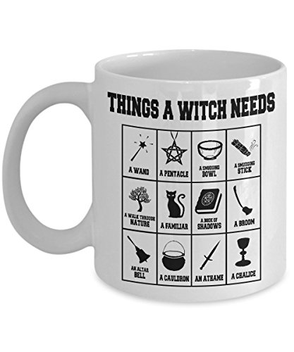 "Witch Altar (The ""Things A Witch Needs"" cool witch mug - A Perfect Wicca Gift for A New Witch To Go With Her/His Wicca Starter Kit!)"