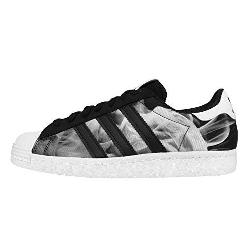 Adidas Women's Superstar 80s W, SMOKE/BLACK/WHITE, 5 US