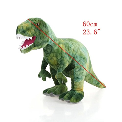 "AIXINI Stuffed Dinosaur Plush Toy - 23.6"" Long Realistic Stuffed Animal Toy for Boy Girls Kids and Toddlers, Green"