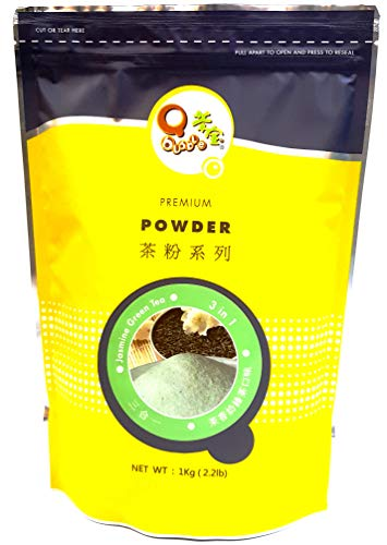 Qbubble Tea Powder Jasmine Green, 2.2 Pound