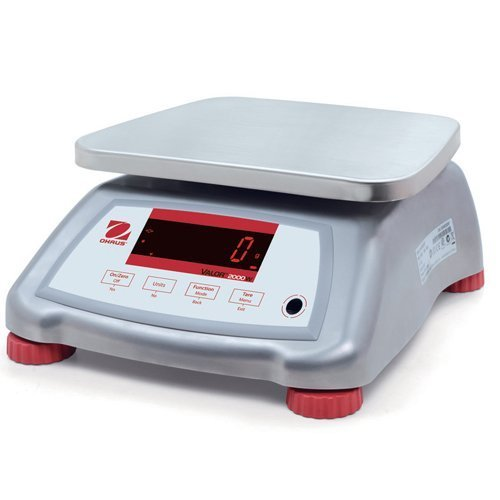 Ohaus V22XWE15T Valor 2000 Food Scale, Stainless Steel, 15 kg Capacity by Ohaus