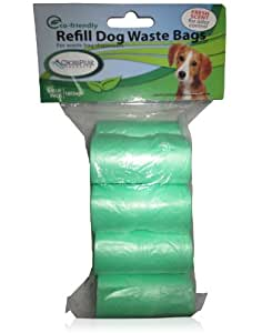 Dog Poop Bags, Scented Refills- Fits Pet Waste Bag Dispensers, Green; for Dog Waste Clean Up, Pick Up, Removal, & Disposal; Best Guarantee