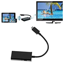 You can Xperia A MHL/Micro-USB to HDMI High Speed Adapter! True digital conversion using official chipset. (5pin / BULK PACKAGING)