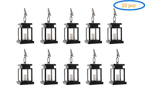 Garden Pavilion - Falove Vintage Waterproof Solar Powered Lantern, Hanging Umbrella Lantern Candle Lights Led with Clamp Beach Umbrella Tree Pavilion Garden Yard Lawn Etc. Lighting & Decoration (10)