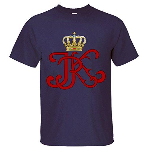 WDFO Royal Monogram Of King Custom Men T Shirt Cotton dark blue XL