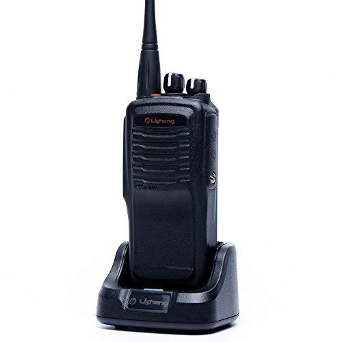 LISHENG LS-A8 Two Way Radio Rechargeable High Power 8W Long Range 5 Miles UHF 400-470MHz Walkie Talkies Include 2000mAh Li-ion Battery (Black, Set of 1)