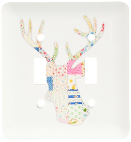 3d Rose 3dRose lsp_179697_2 Colorful Girly Deer Head Silh...