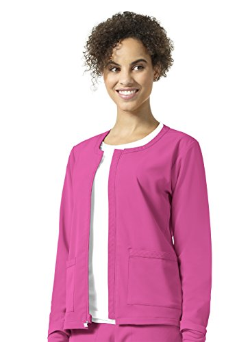 (Vera Bradley Halo Collection Women's Julia Zip Front Quilted Warm Up Jacket- Pretty Pink- X-Large)